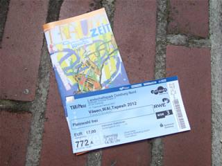 ヴェーセンの公演チケットとフェスティヴァルのプログラム