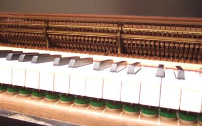 ピアノの鍵盤部分